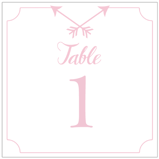 free printable table number templates
