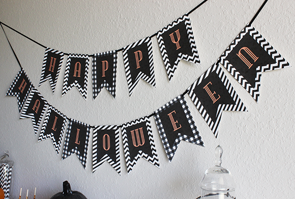 photo about Printable Halloween Banners named Halloween Printable Banner - Chicfetti