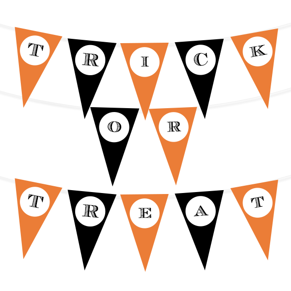 image relating to Halloween Printable referred to as Halloween Printable Pennant Banner - Chicfetti