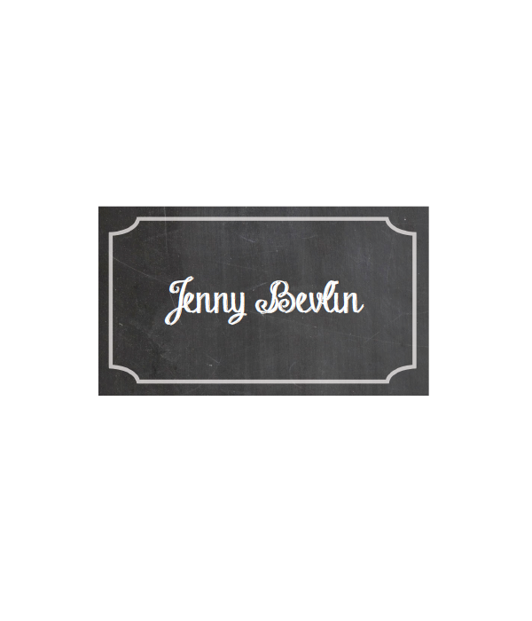 photograph about Free Printable Name Cards named Chalkboard Position Playing cards - Chicfetti