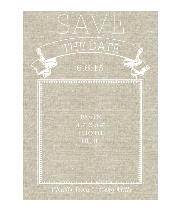 It is a photo of Printable Save the Date in pdf