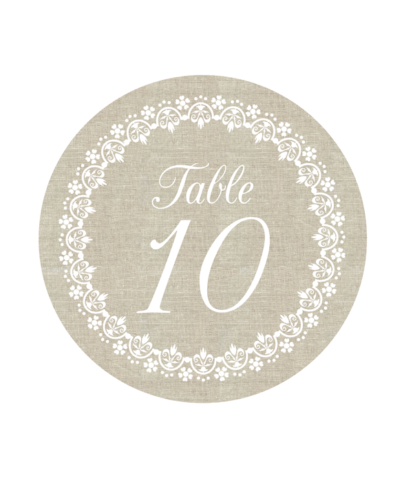 linen table numbers chicfetti