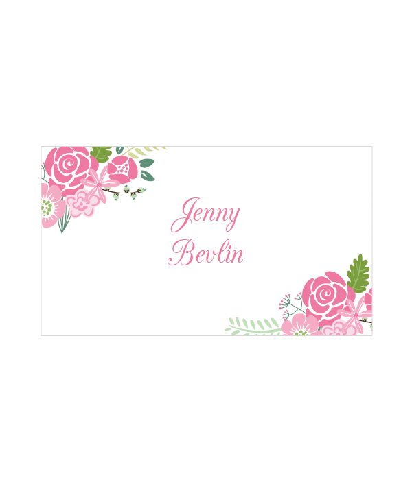 floral place cards - Printed Wedding Place Cards
