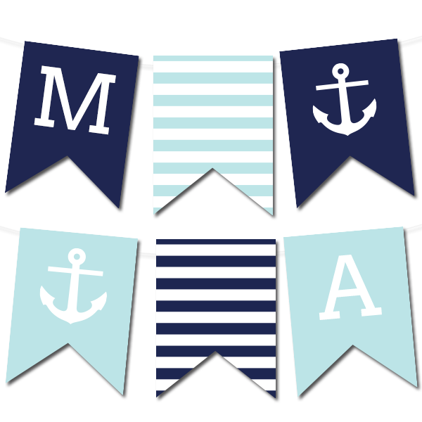 Nautical Banner - Chicfetti