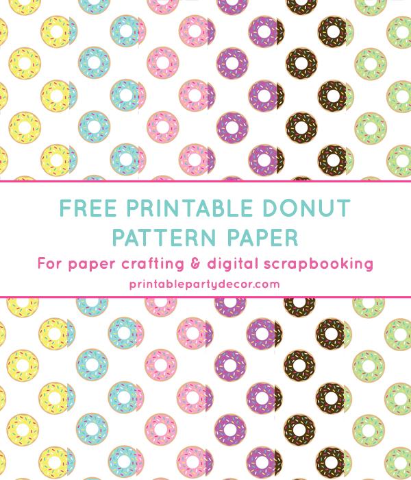 donut digital paper in 6 colors chicfetti