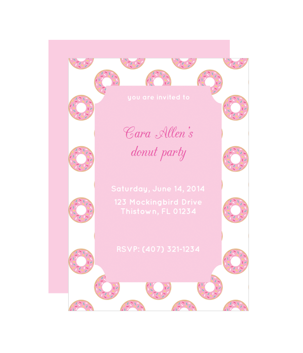 donut party invitation chicfetti