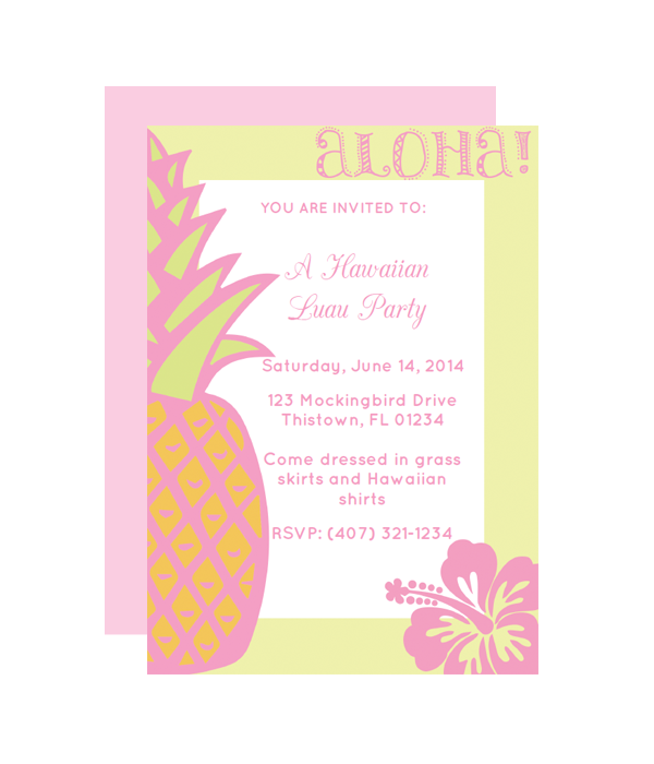 hawaiian party invitation