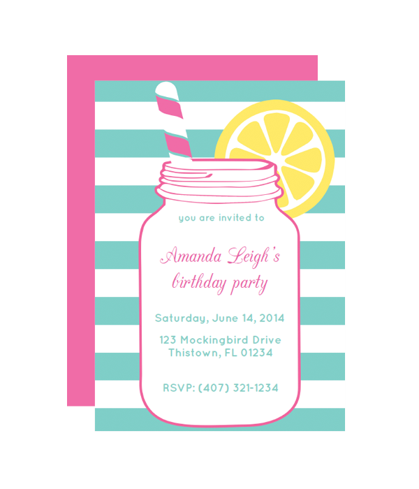 picture regarding Printable Party Invitations called Mason Jar Get together Invitation - Chicfetti