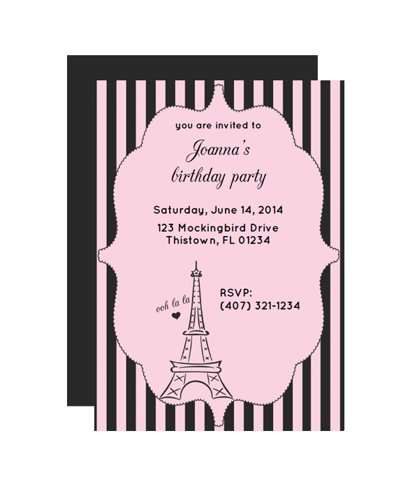 Paris Party Invitation - Chicfetti
