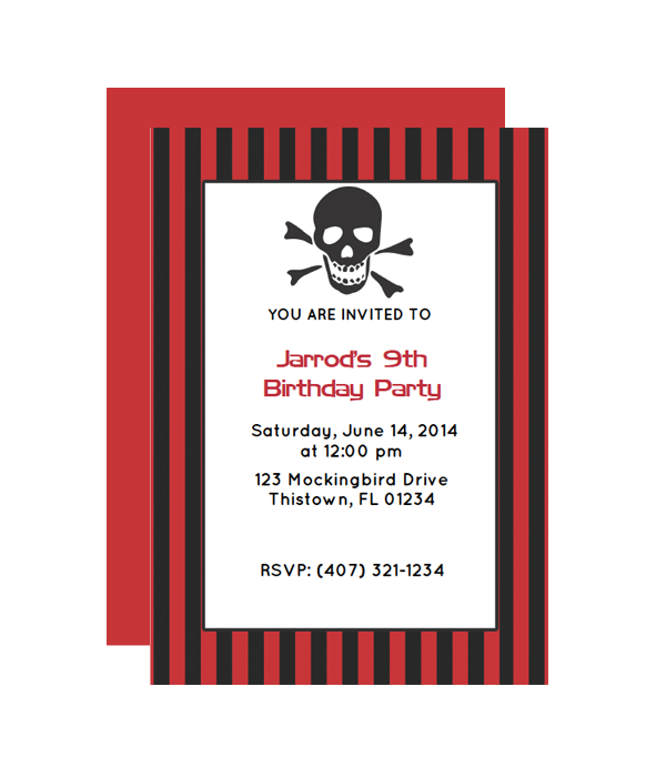 image relating to Pirate Party Printable titled Pirate Social gathering Invitation - Chicfetti