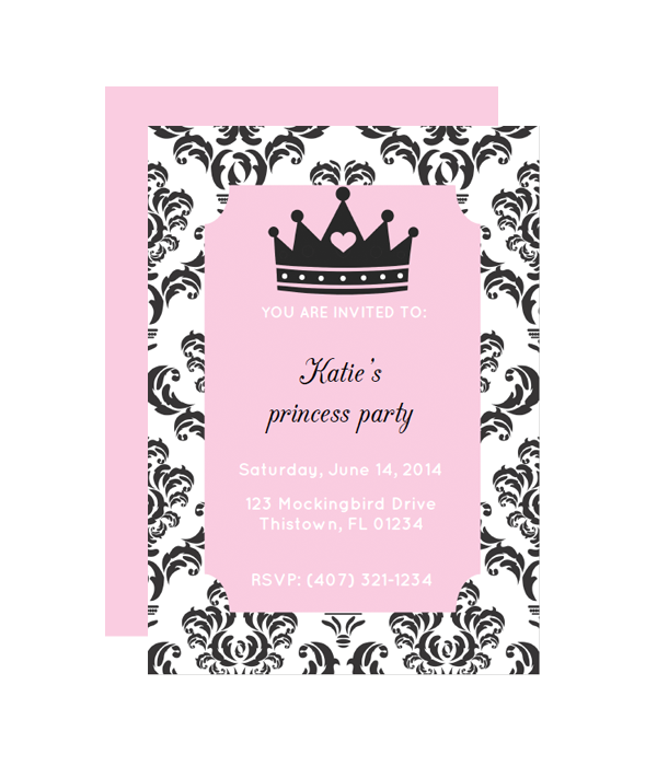princess party invitation chicfetti