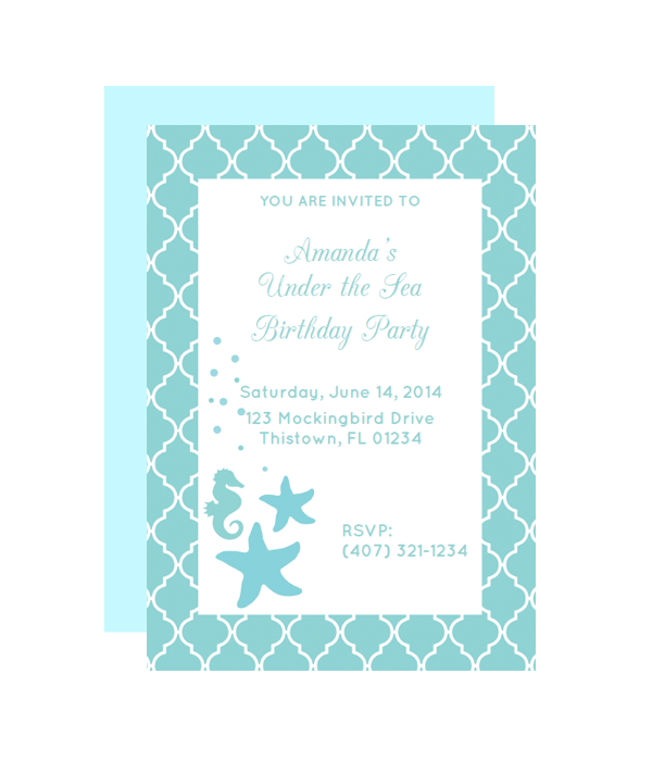 Under the Sea Party Invitation Chicfetti
