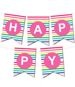 picture relating to Printable Happy Birthday Banner named Printable Banners - Generate Your Particular Banners With Our Printable