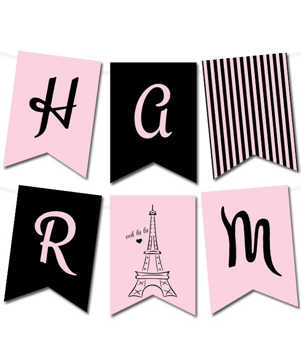 Paris Pennant Banner