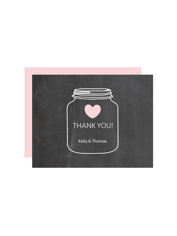 mason jar chalkboard thank you cards chicfetti