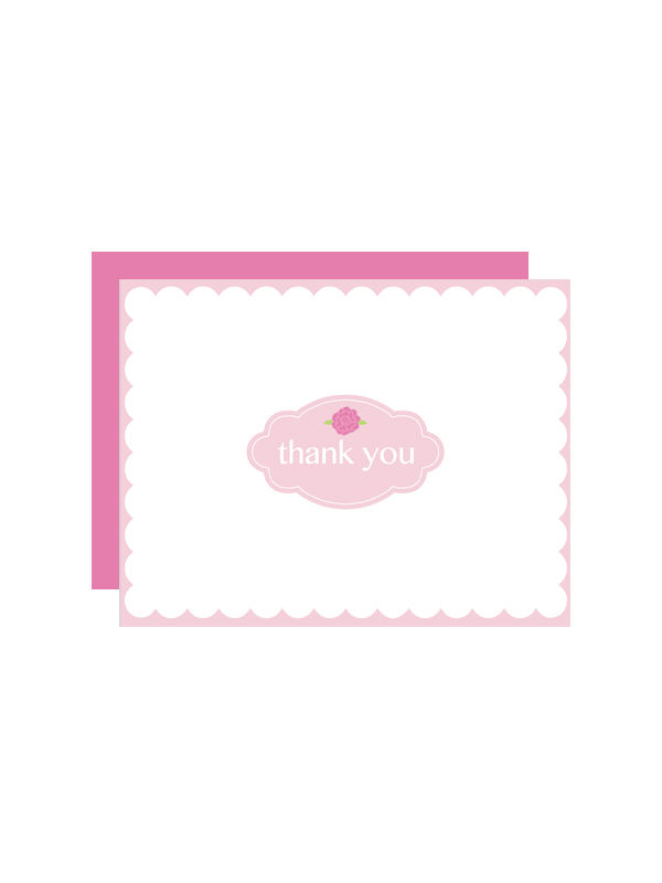 scallop flower thank you cards chicfetti