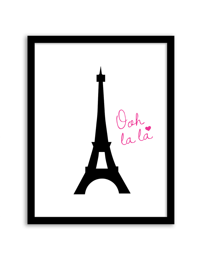image about Printable Pictures of the Eiffel Tower named Eiffel Tower Wall Artwork - Chicfetti