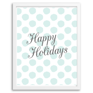 Free Printable Happy Holidays Wall Art from Chicfetti.com