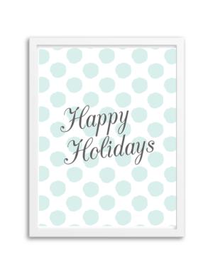 Free Printable Happy Holidays Wall Art from Chicfetti.com