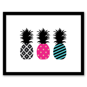 Free Printable Pineapple Wall Art from Chicfetti.com