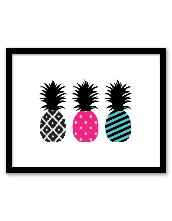 image about Printable Pineapple called Pineapple Wall Artwork - Chicfetti