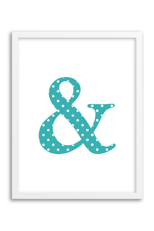 Free Printable Polka Dot Ampersand Wall Art from Chicfetti.com