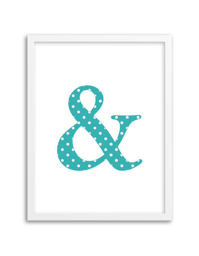 Wonderful Free Printable Polka Dot Ampersand Wall Art From Chicfetti.com Part 14