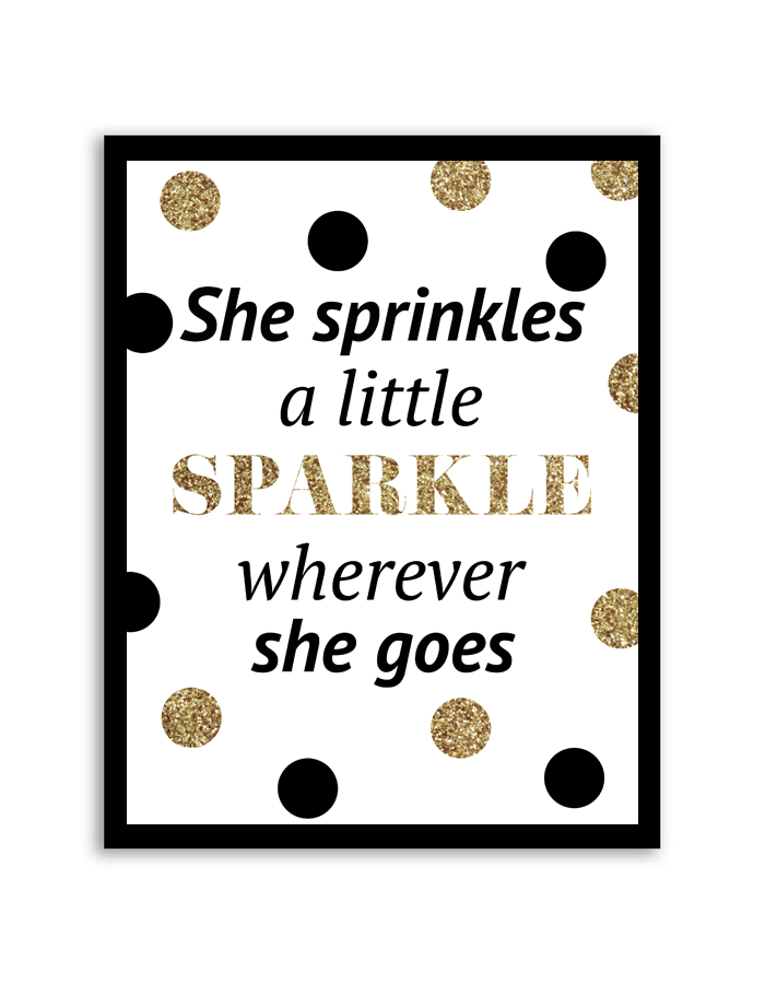 free printable she sprinkles a little sparkle wall art
