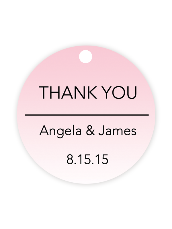 photo relating to Printable Wedding Favor Tags named Ombre Wedding ceremony Prefer Tags (Mild Red) - Chicfetti