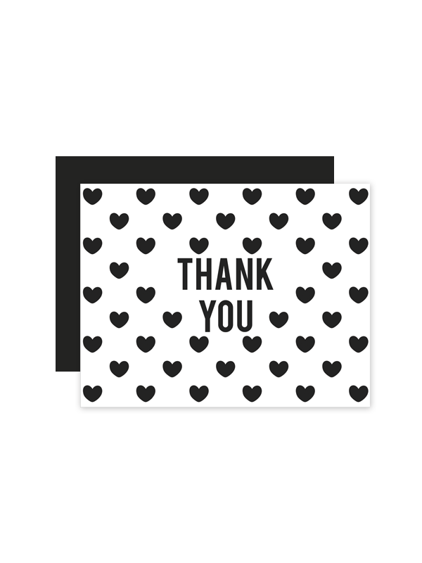 printable thank you cards black and white