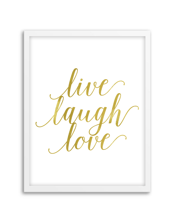 Free printable live laugh love wall art for Live laugh love wall art