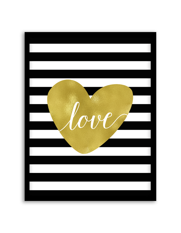 Love In Stripes Wall Art