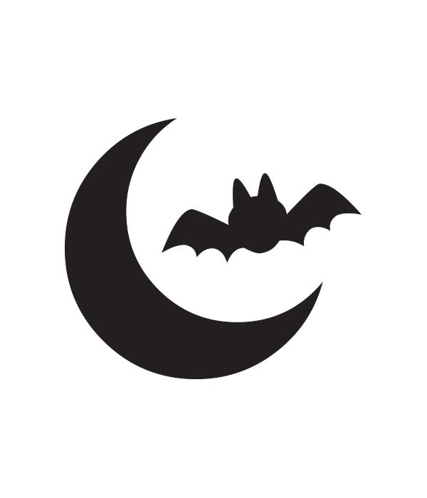 Moon and bat svg file chicfetti