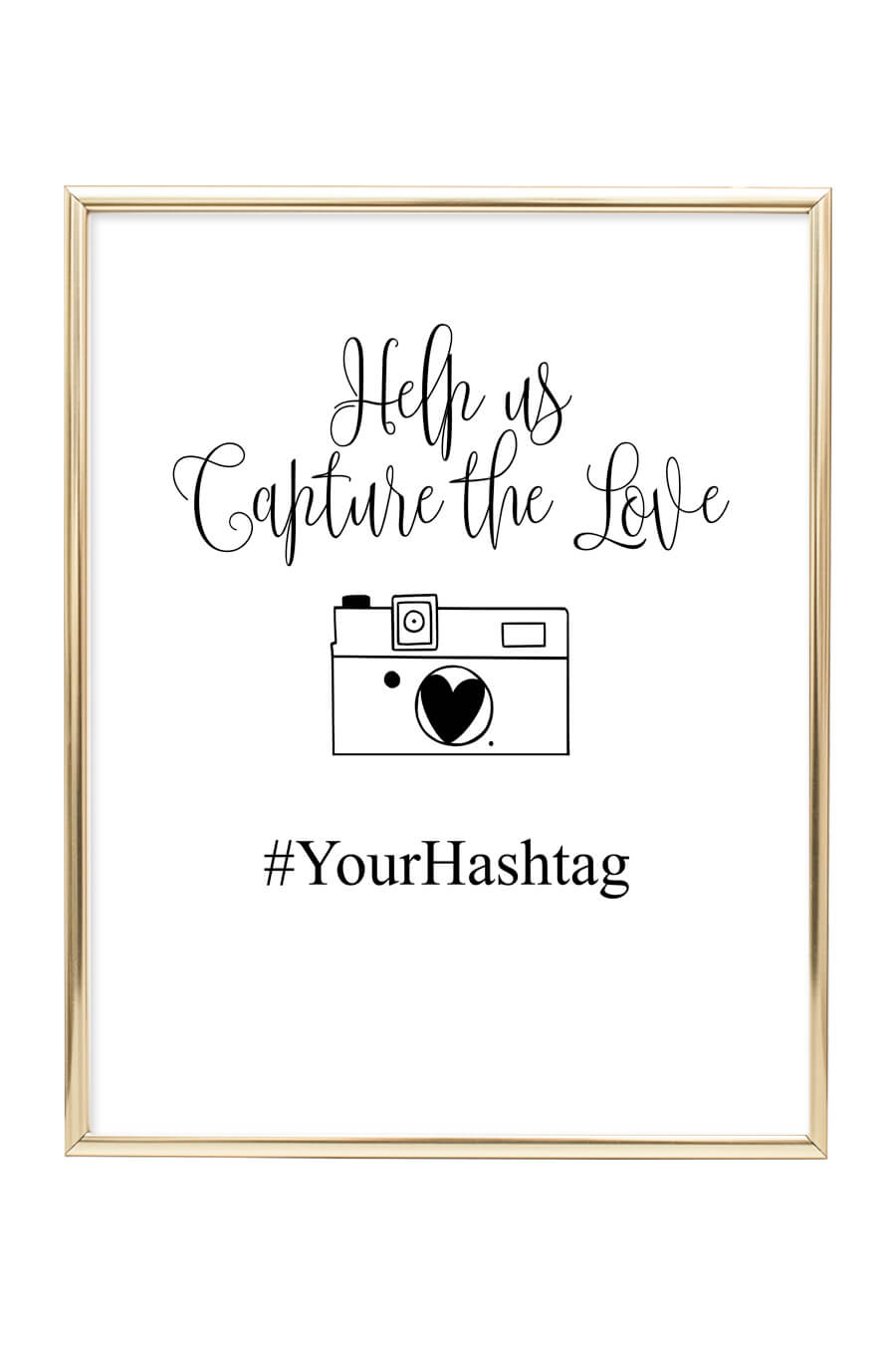 photograph regarding Free Printable Sign Templates referred to as Hashtag Wedding ceremony Indicator - Chicfetti