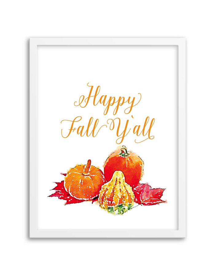 picture regarding Happy Fall Yall Printable referred to as Content Drop Yall Wall Artwork - Chicfetti