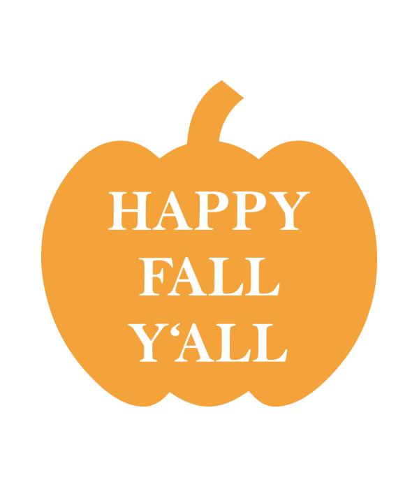 Happy Fall Y All Pumpkin Svg File Chicfetti
