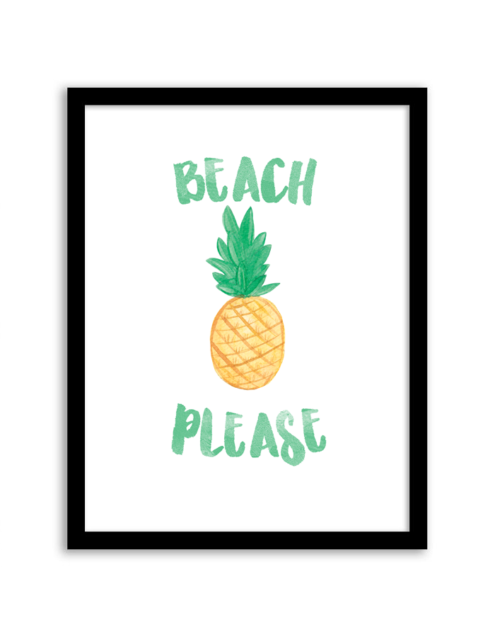 Beach Please Wall Art. Download And Print This Free Printable ... Part 17