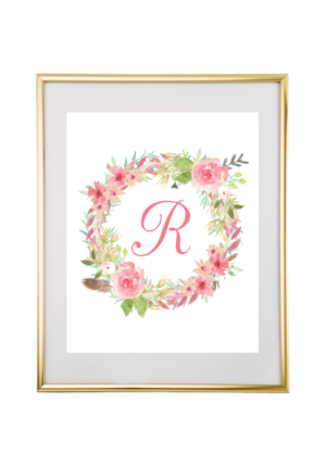 Chicfetti monograms make your own monograms using our free templates watercolor floral wreath monogram maker spiritdancerdesigns Images