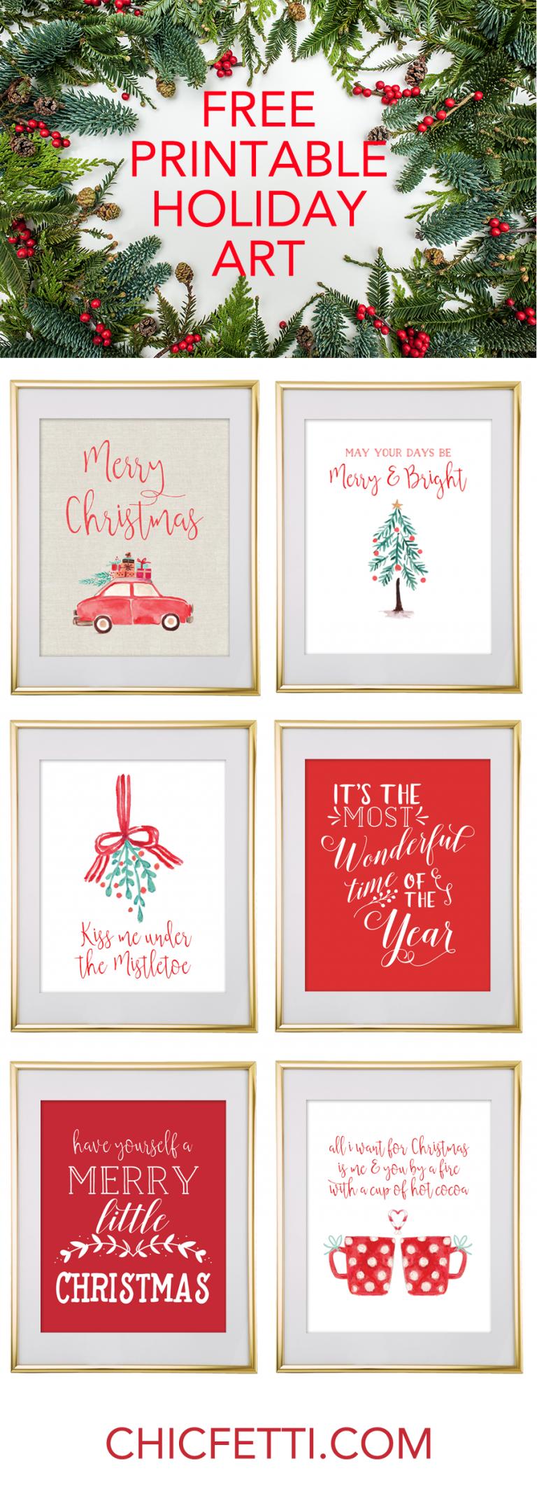 Christmas Free Printable Wall Art
