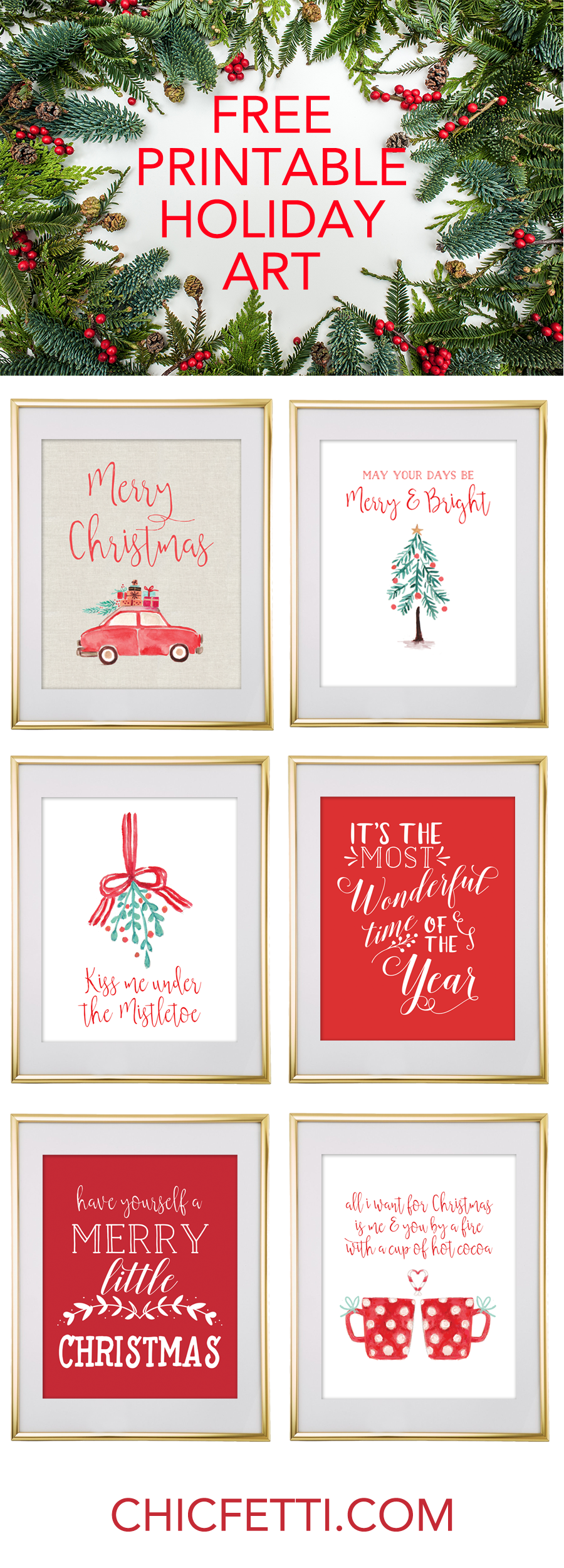 free printable christmas wall art download this free printable christmas art for your christmas decor
