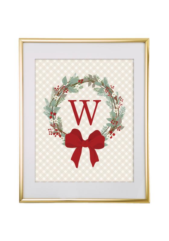 Free Printable Wreath Monogram Maker