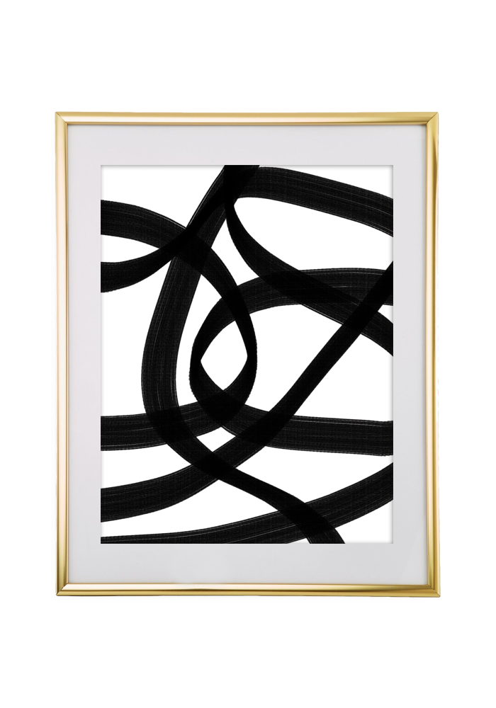 Abstract black wall art