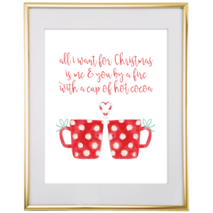 All I Want For Christmas Wall Art