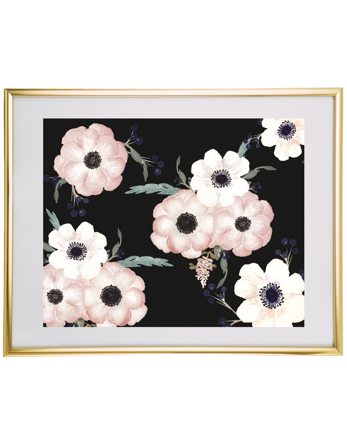 graphic relating to Free Printable Wall Art Flowers called Beautiful Floral Wall Artwork - Chicfetti