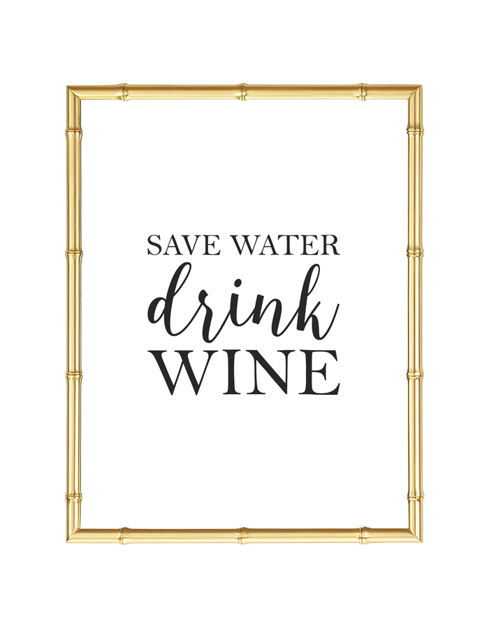 Save Water Drink Wine Wall Art
