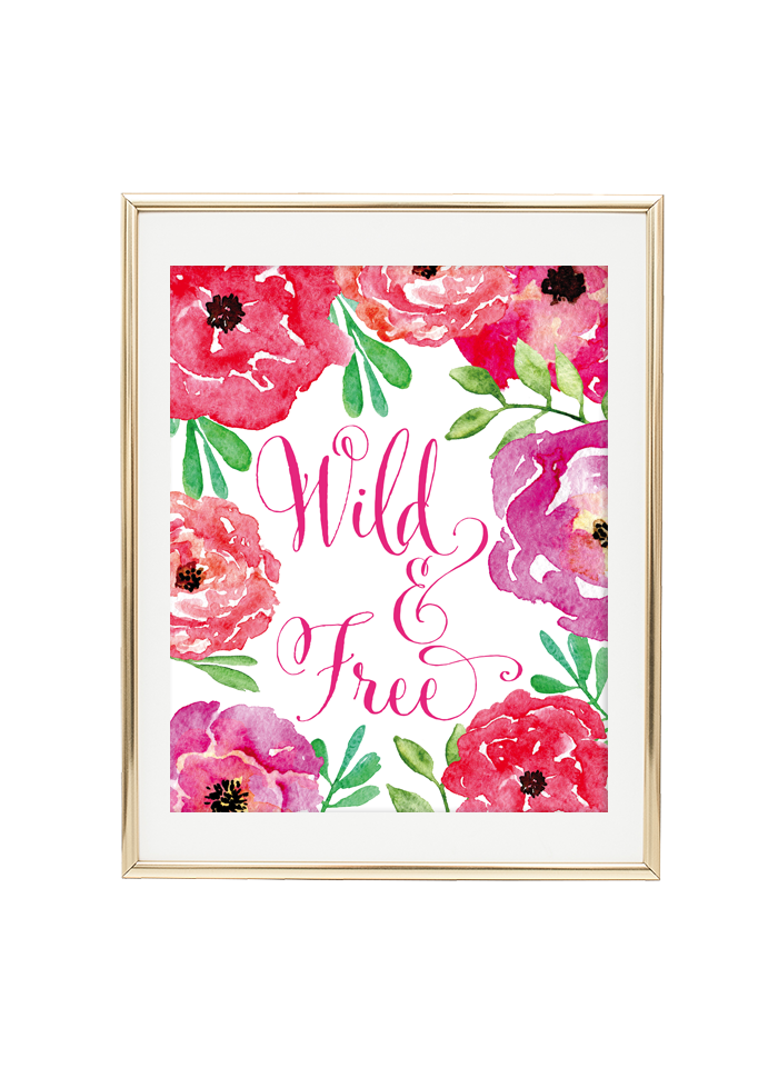 Wild And Free Floral Wall Art