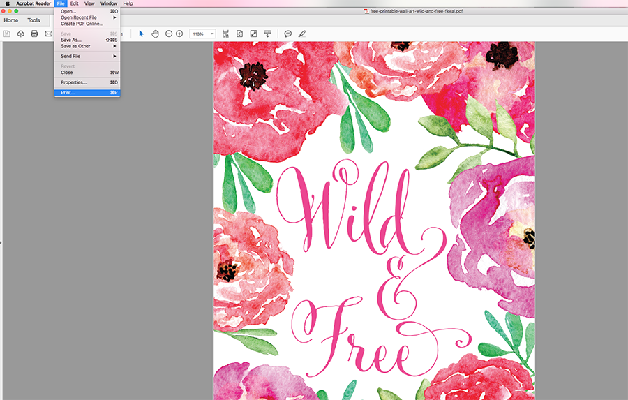 How to Resize Free Printables Free Printable Wall Art Chicfetti Blog