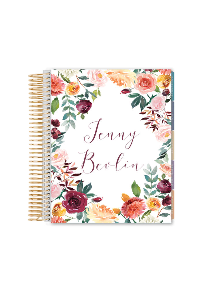 Fall Floral Printable Binder Cover