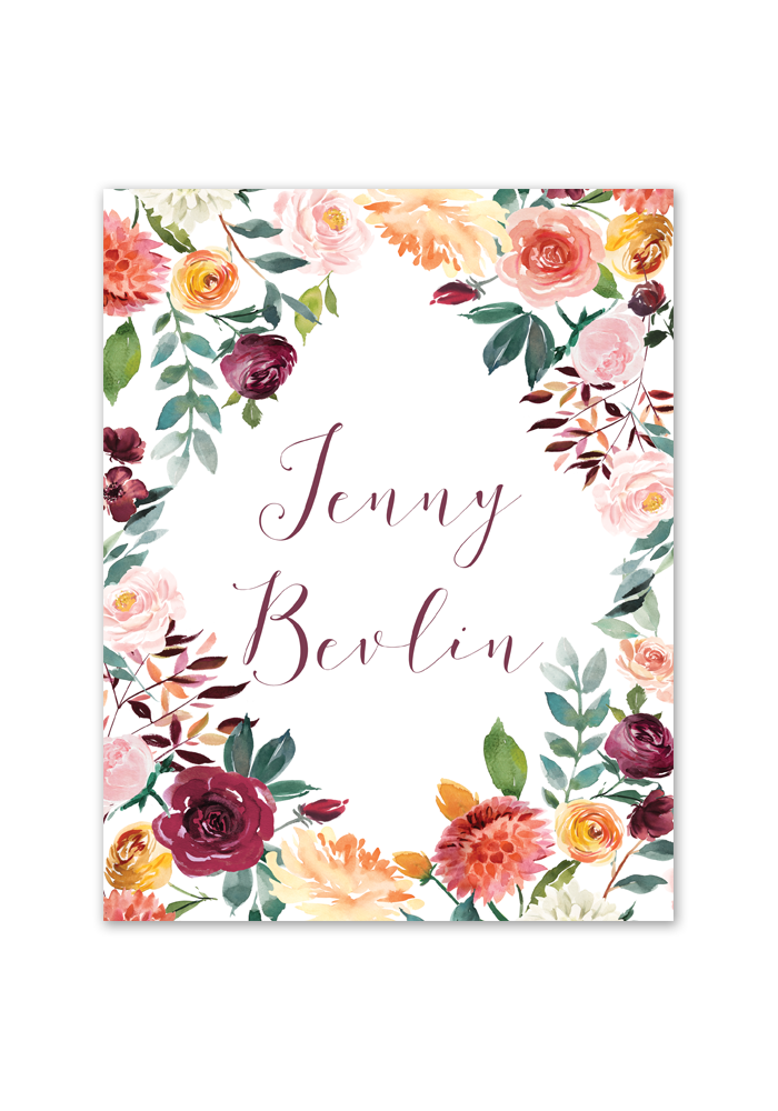 fall floral printable binder cover planner cover chicfetti