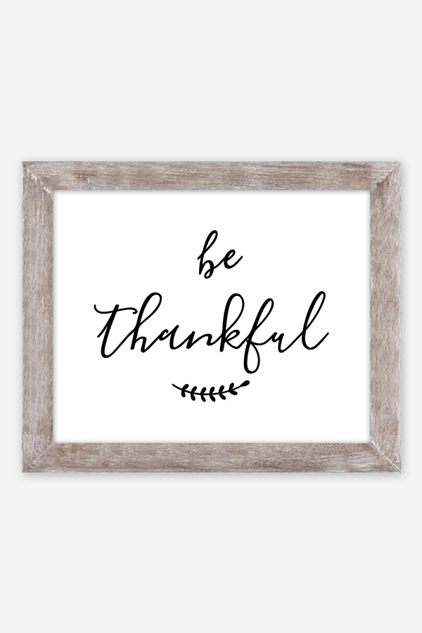 picture relating to Thankful Printable called Be Grateful Printable Poster - Chicfetti
